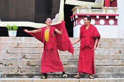 Two Younger monks Stock Photography