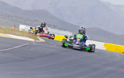 Two Youth Go Kart Racers Royalty Free Stock Photo