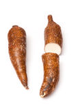 Two Yuca roots Stock Photo