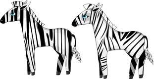 Two zebras Royalty Free Stock Photo