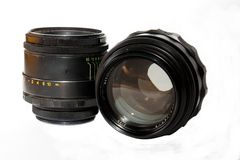 Two Zenit's Objective. Stock Images
