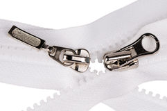 Two zipper fasteners Royalty Free Stock Photo