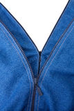 Two zippers on a jeans Royalty Free Stock Image