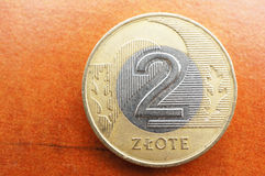 Two zloty Royalty Free Stock Images