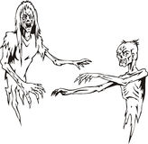 Two zombies Royalty Free Stock Photo