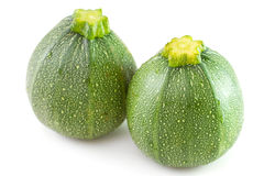 Two zucchini on white Royalty Free Stock Image