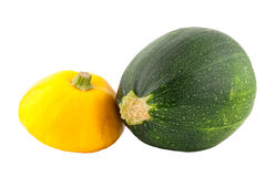 Two zucchinis Royalty Free Stock Images