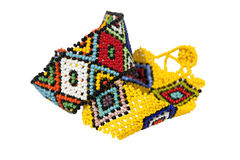 Two Zulu Beadwork Bracelets in Bright Colors Stock Image
