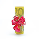 Twohundred euro gift Royalty Free Stock Image