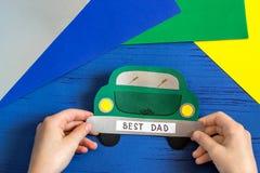Tworzenia kartka z pozdrowieniami dla ojca ` s dnia dzieckiem Krok 10 Fotografia Royalty Free