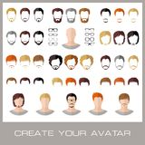 Tworzenie mody samiec avatars Fotografia Stock
