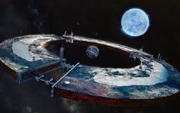 Tworzenie sztuczna planeta świadczenia 3 d Zdjęcie Royalty Free