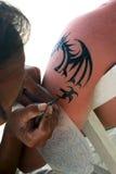 tworzenie tatuaż Obrazy Stock