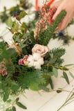 Tworzyć cudowną skład bawełnę, rożki Fotografia Royalty Free
