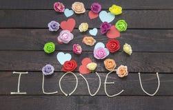 Tworzyć słowo: kocham u na tle zdjęcie royalty free