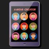 Tworzy ślicznego avatar, emocj i fryzur, ilustracja wektor