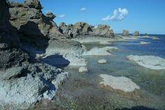 tworzy geologiczne Gotland Szwecji Zdjęcia Stock