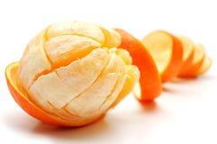 tworzy swój pomarańczowej skórki spiralę obrazy stock