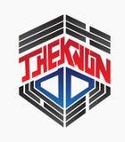 Tworzy Taekwondo loga ilustracja wektor