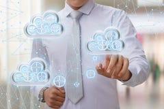 Tworzy transfer danych od chmury sieć Fotografia Stock