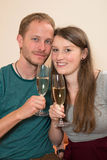 Twosome with Champagner Stock Image