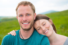 Twosome in front of nature background Stock Photography
