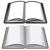 Twp book icons isolated on white Stock Photo