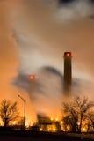 Twp Smoke Stacks Rising Royalty Free Stock Photo