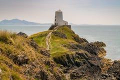 Twr Mawr Lighthouse, Ynys Llanddwyn, Anglesey, Gwynedd, Wales, U royalty free stock images