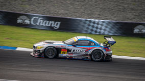 TWS LM corsa BMW Z4 of LM corsa in GT300 Races at Burirum, Thail Stock Photos