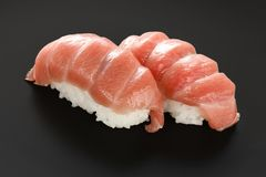 Twu otoro tuna sushi , japanese food Stock Image