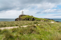 Twy Mawr. Lighthouse built in 1845 and modelled on the windmills in Anglesey. Located on the Island of Llanddwyn in Anglesey North Wales Stock Photography