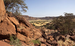 Twyfelfontain in Damaraland Royalty Free Stock Photos