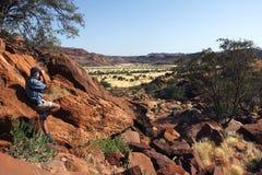 Twyfelfontain - Damaraland - Namibië Royalty-vrije Stock Foto