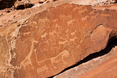 Twyfelfontein. Rock Encravings in Namibia, Africa Royalty Free Stock Photos