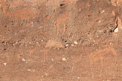 Twyfelfontein archaeological site, Namibia Royalty Free Stock Photography