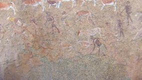 Twyfelfontein bushman rock paintings, Namibia. South Africa stock video footage