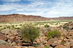 Twyfelfontein em Namíbia, África Fotos de Stock Royalty Free