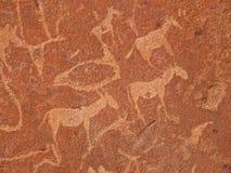 twyfelfontein för gravyrnamibia rock arkivfoto