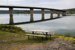 Twyning Island Bridge, St. Joseph, Ontario Royalty Free Stock Image