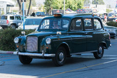 TX4 Hackney Carriage car on display. Woodland Hills, CA, USA - June 7, 2015: TX4 Hackney Carriage car on display at the Supercar Sunday car event Stock Image