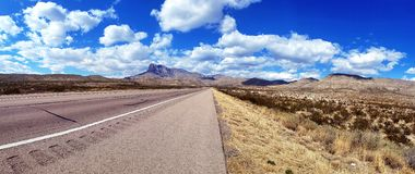 TX occidental Guadalupe Mountains National Park Photographie stock libre de droits