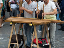 Txalaparta. traditional instrument of the Basque Country. Stock Photo