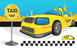 Táxi amarelo do carro Imagem de Stock Royalty Free