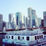 Táxi da água de Chicago Fotografia de Stock Royalty Free
