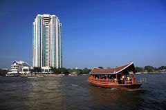 Táxi do rio, Banguecoque, Tailândia Imagens de Stock