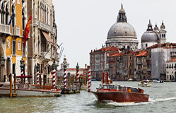 Táxi em Veneza Foto de Stock Royalty Free