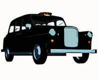 Táxi/táxi ingleses tradicionais Fotos de Stock