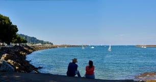 Txingudi-Bucht von Hondarribia, Baskenland, Spanien Stockfotos