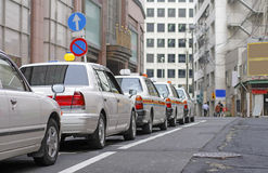 Táxis japoneses Imagens de Stock